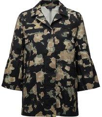 balla camo ls utility jacket zomerjas dunne jas zwart french connection