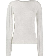 isabel marant étoile slim-fit crew neck pullover - grey