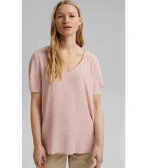blusa fluida con estampado floral rosado esprit
