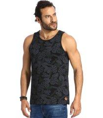 camiseta vlcs regata gola redonda preta - preto - masculino - dafiti