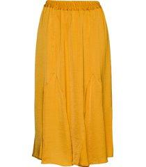 andrea midi skirt knälång kjol gul soft rebels