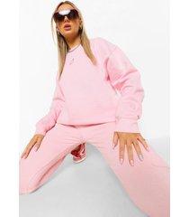 geborduurde hartjes sweater, pink