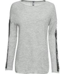 maglione lungo con paillettes (grigio) - rainbow