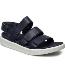 flowt w shoes summer shoes flat sandals blå ecco