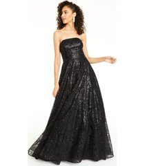 say yes to the prom juniors' strapless sequined gown, created for macy's
