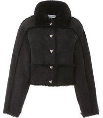 saks potts kahlo sheepskin short jacket