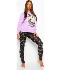 friends sweater en leggings set, lilac