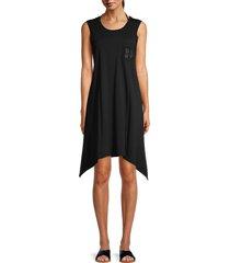 dkny women's mesh coverup dress - soft white - size l/xl