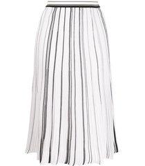 missoni flared pleated skirt - white