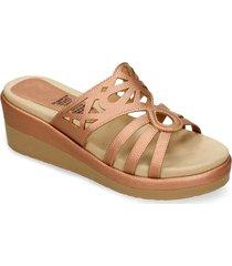 sandalias de plataforma rosado bata hastand mujer