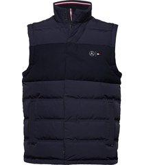 2 mb mixed media vest vest blauw tommy hilfiger