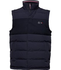 2 mb mixed media vest vest blauw tommy hilfiger
