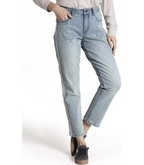 jeans mujer delia algodón celeste rockford
