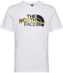 m s/s mount line tee t-shirts short-sleeved vit the north face