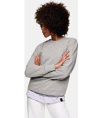 topman grey classic sweatshirt - grey