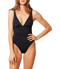 women's l space sydney one-piece swimsuit, size 12 - black