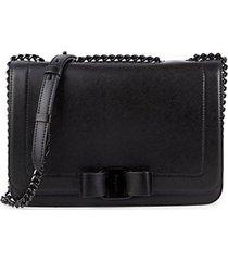 bow leather shoulder bag