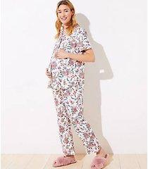 loft maternity floral pajama pants