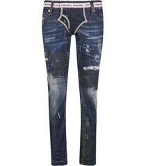 dsquared2 logo waist fitted jeans