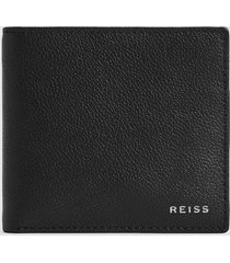 reiss benson - leather wallet in black, mens
