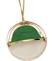 jil sander pouch detail necklace - gold