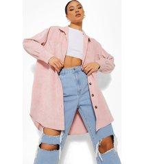 nep suède blouse met zak detail, pink