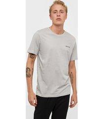 nicce chest logo t-shirt t-shirts & linnen stone grey