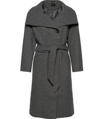 sltomorrow coat wollen jas lange jas grijs soaked in luxury