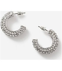 *pave hoop earrings - clear