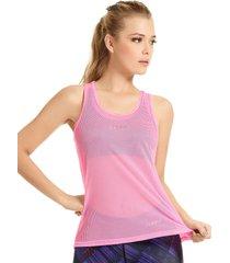 camisilla en malla haby para mujer-rosado