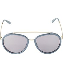 viva 55mm browline aviator sunglasses