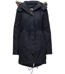 w zaneck parka parka lange jas jas blauw the north face