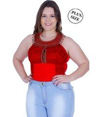 body moda maior zigma keyla vermelho