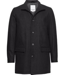 coat w stand up collar trenchcoat lange jas zwart lindbergh