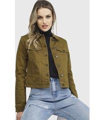 chaqueta vero moda hot soya ls jacket marrón - calce ajustado