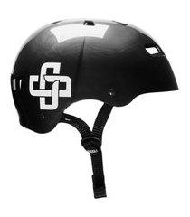 capacete niggli pads iron pro titanium fita preta