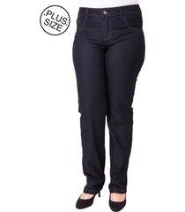 calça plus size - confidencial extra jeans seven blue reta