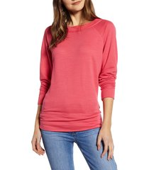 women's caslon dolman sleeve cotton blend pullover, size x-large - red