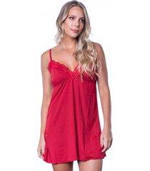 camisola click chique alça básica sem bojo vermelho - tricae