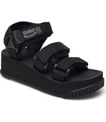 neo bungy platform shoes summer shoes flat sandals svart shaka