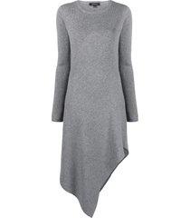 barbara bui knitted merino-blend dress - grey