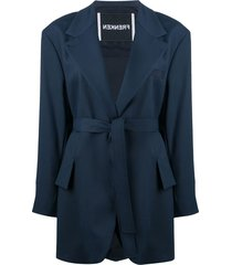 frenken oversized drop out coat - blue