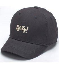 cappellino da baseball regolabile da baseball moda crazy lettera colore solido da baseball per uomo