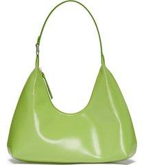 'amber' patent leather shoulder bag