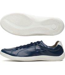 sapatenis azul marinho 102 - azul marinho - masculino - couro sintã©tico - dafiti