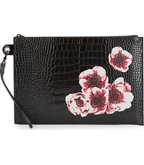 le pliage heritage floral-print leather pouch