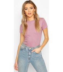 100% cotton crew neck t-shirt, violet