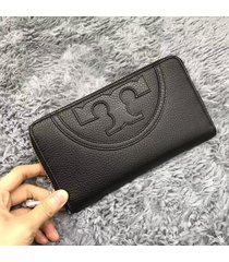 tory burch all-t leather zip continental wallet