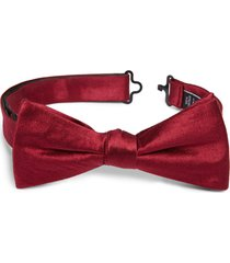 men's nordstrom men's shop solid silk bow tie, size one size - burgundy
