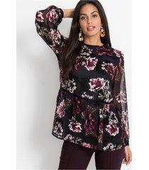 chiffon blouse met print